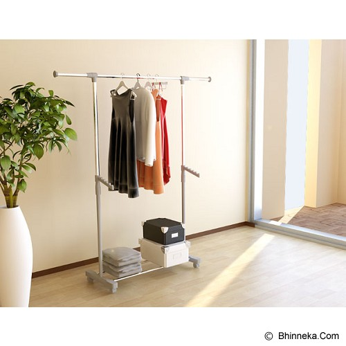 FUNIKA Clothes Rack [22085] - White - Rak Serbaguna
